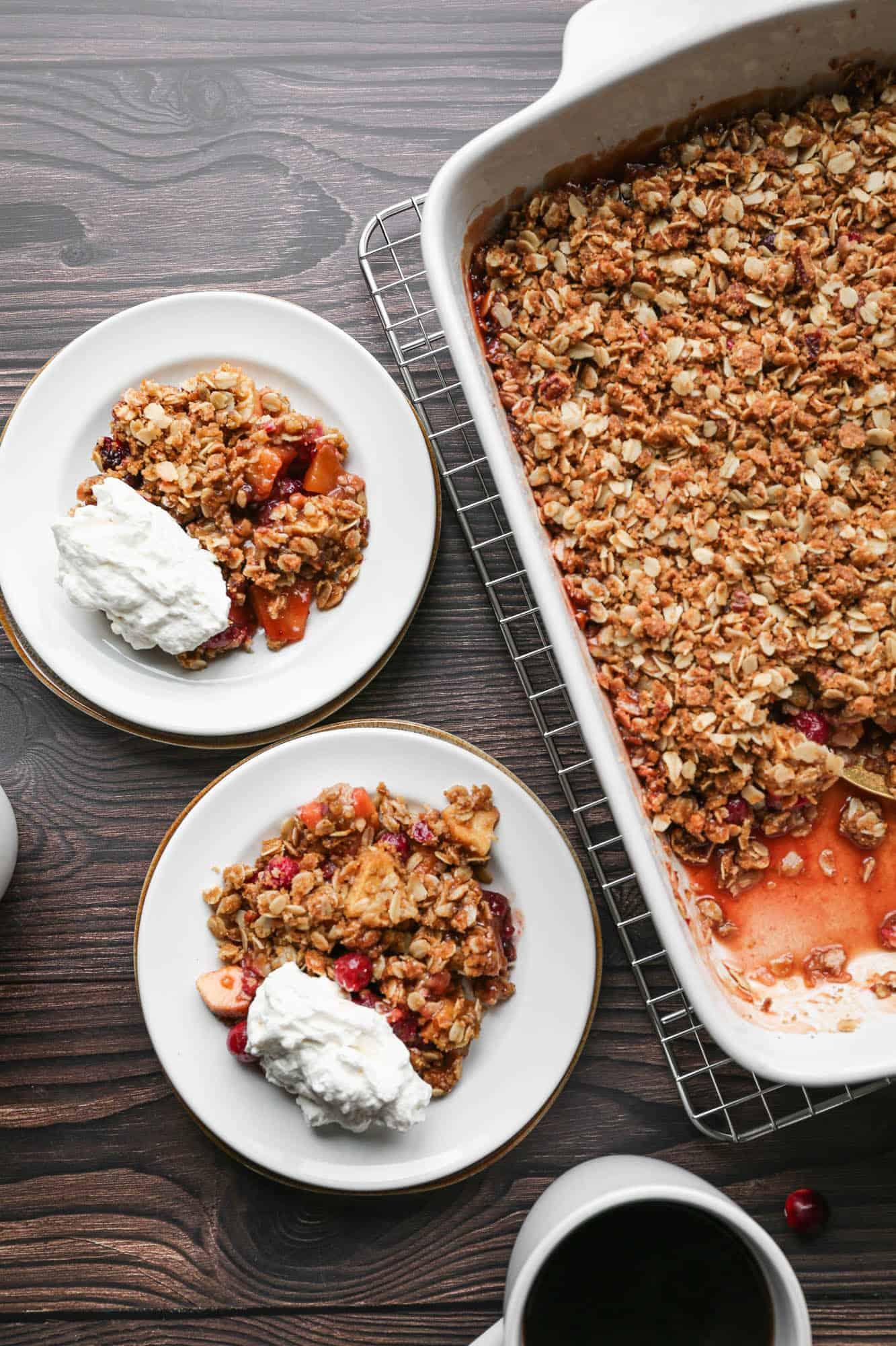 Gluten Free Cranberry Apple Crisp