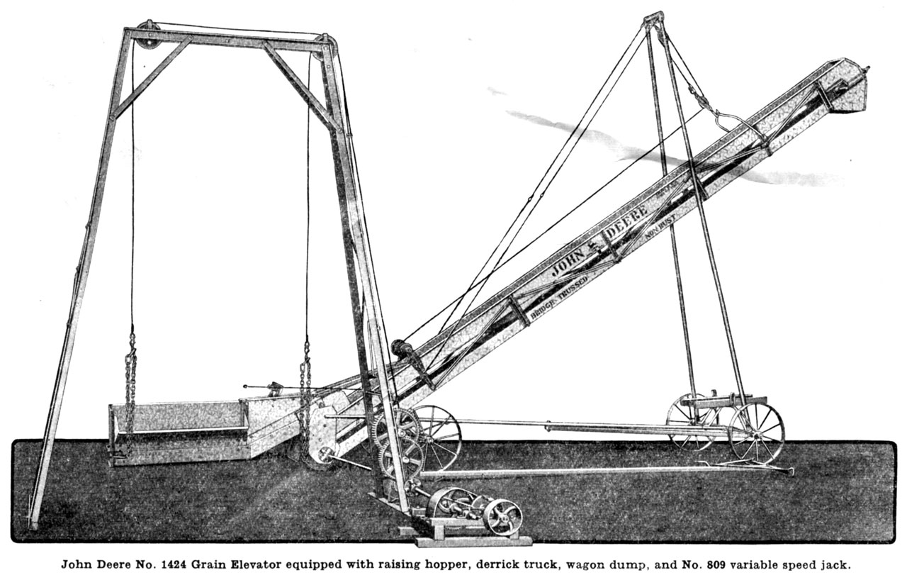 John Deere Portable Bridge Trussed Grain Elevator Small