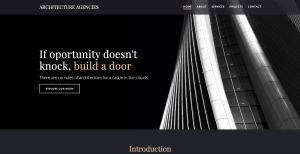 Architecture Website Example