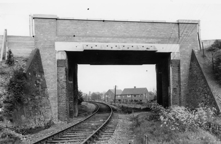 Cottonmill Lane Bridge 1953 after rebuild look East