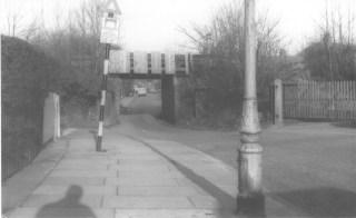 Fleetville Siding 2 Sutton Rd Bridge 1 week before demolition Jan 1967