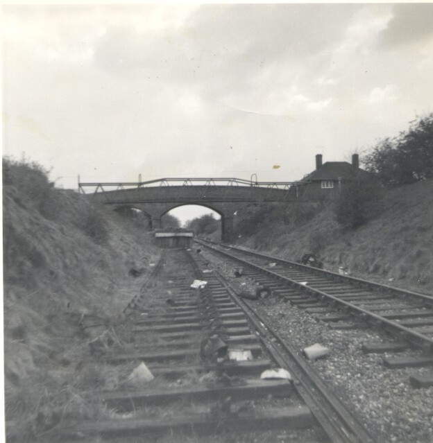 Hatfield Ground Lane overbridge towards St A 1968