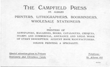 Salvation Army Siding 5 Campfield Press Card