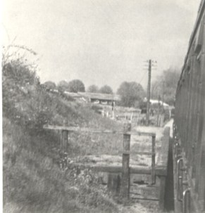 Sanders Halt from passenger train 1950