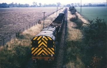 Smallford -2 Scrap Train from the bridge 1967