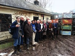 The 'Bringing the History of Smallford Station to Life' Project Team had their 1st visit to the station in February 2013