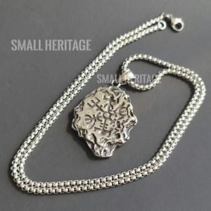 Two-Sided Vegvísir Valknut Pendant Viking Stainless Steel Necklace