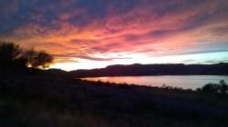 Sunset over Banks Lake