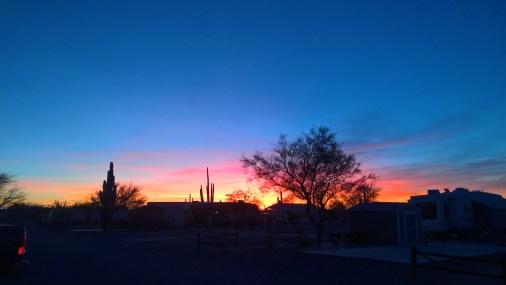 Sunset over Desert Gardens