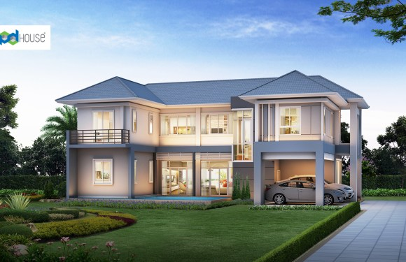 Pool House Designs Plot 16×24 with 3 Bedrooms