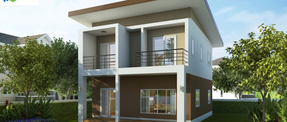 Small House Design 7×9.5 with 3 Bedrooms