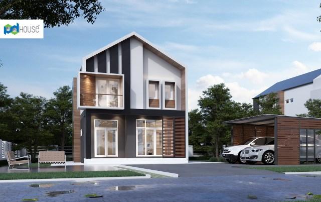House Design Plans 6.5x11.5 Meters 2 Bedrooms