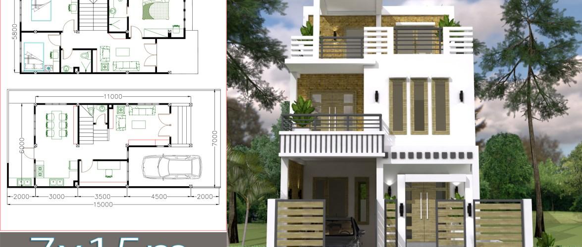 House Plans 7x15M 23x49F