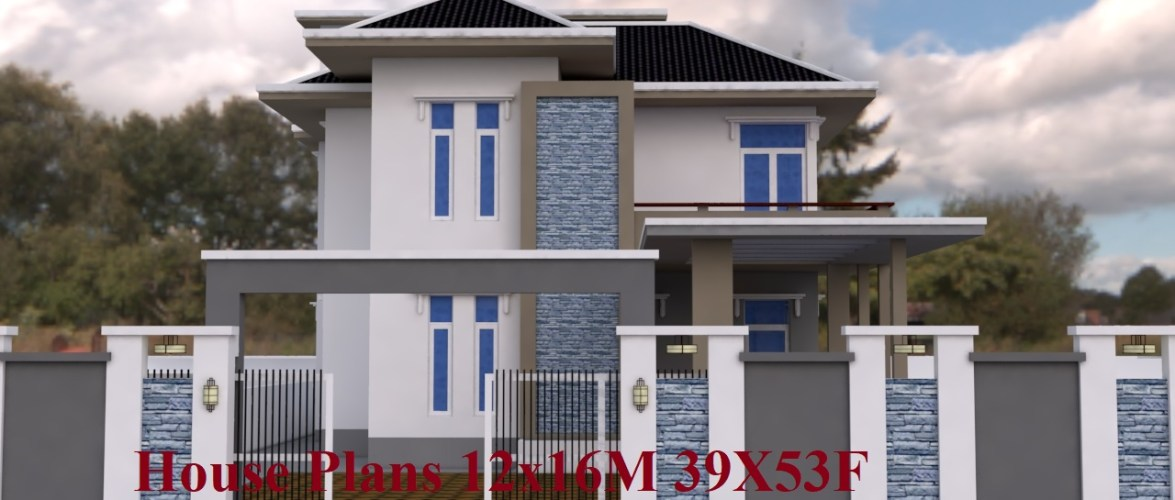 House Plans 12x16M 39X53F