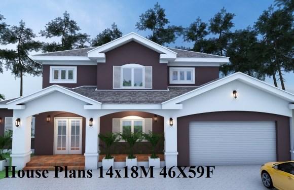 House Plans 14x18M 46X59F