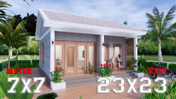 Small House Design 23x23 Feet 7x7 Meter