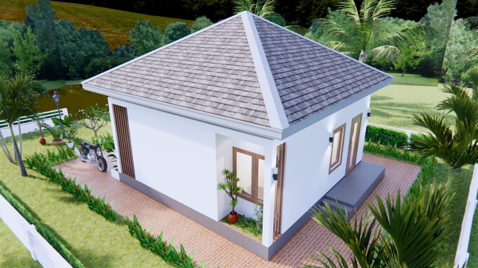 Small House Design 7x7 Meter 23x23 Feet One Bed 4