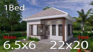 Small Home Design 6.5x6 Meter 22x20 Feet Hip Roof