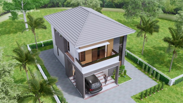 Small House Plan 7.5x11.7 Meter 25x40 Feet 4 Beds 4