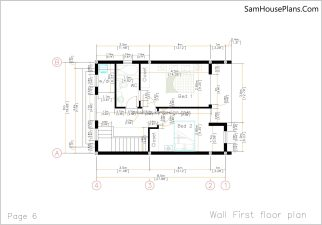 06 Wall First Floor Plan House design Idea 6x8.5 PDF Full Plans