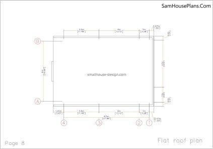 08 Roof plan House design Idea 6x8.5 PDF Full Plans