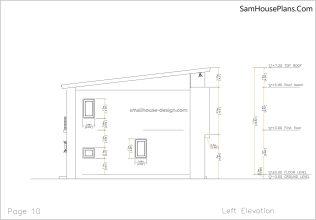 10 Left elevation plan House design Idea 6x8.5 PDF Full Plans