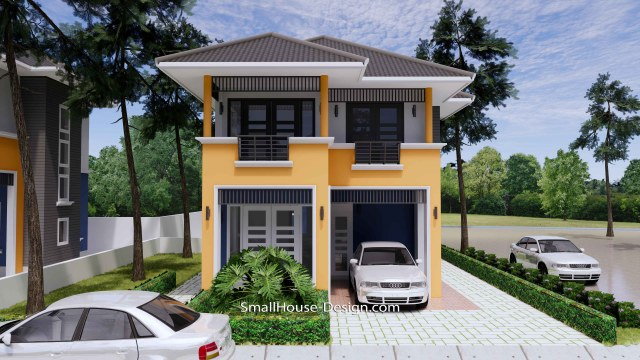20x31 Small House Plan 3 Bedrooms Hip Roof 6x9.5 M 2