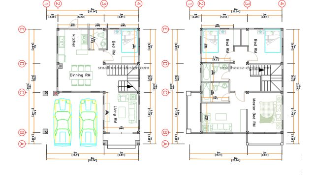 8x10 Small House Design 4 Bedrooms Shed Roof floor plan