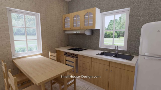Granny Flat 7x5.2 Meter 1 Bedroom Gable Roof 23x17 Feet Kitchen