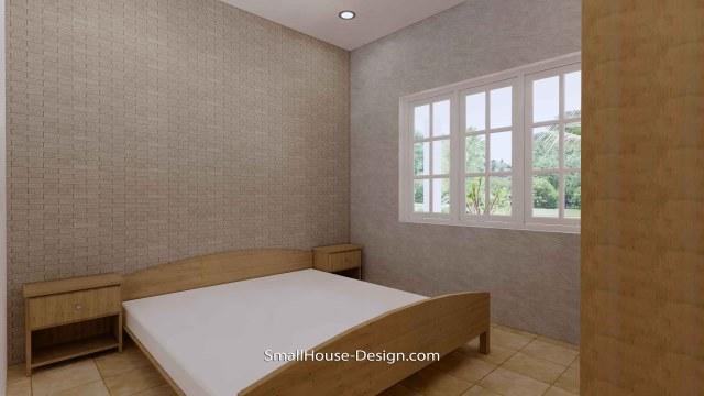 Granny Flat 7x5.2 Meter 1 Bedroom Gable Roof 23x17 Feet bedroom