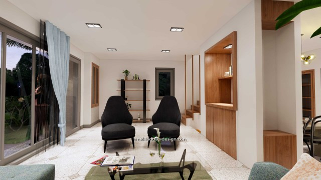 House Idea 6x8.5 PDF Full Plans Interior Living room 5