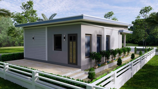 Small House Design 7x11 Meters 2 Bedrooms Shed Roof 23x36 Feet 5
