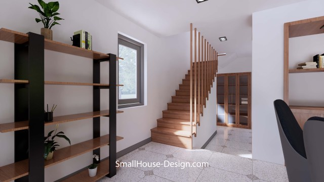 Small House Plan 6x8.5 PDF Full Plans Interior Stair