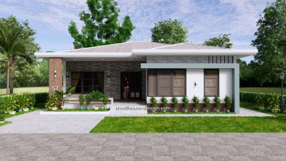 House Design Plans 12x12 Hip Roof 2 Bedrooms 2