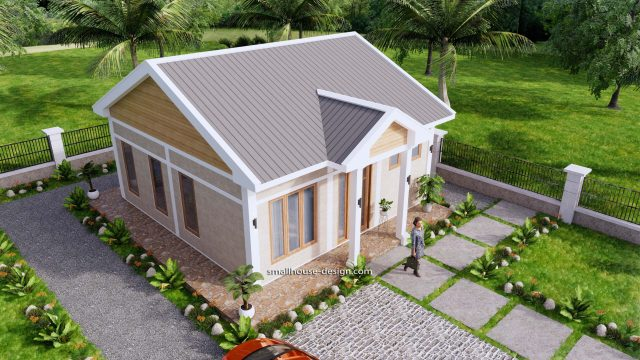 House Plans 7x7m One Bedrooms Full Plans 3d 5