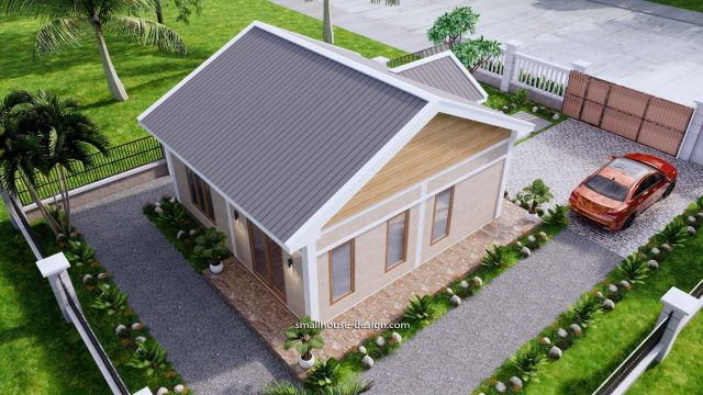 House Plans 7x7m One Bedrooms Full Plans 3d 6