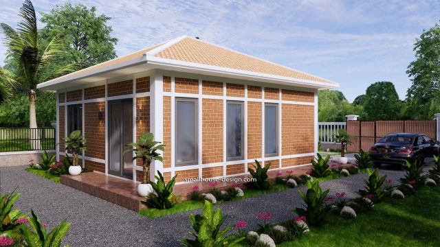 Small House Plans 7x7M with One Beds Full Layout 6