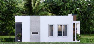 10x8 Small House Design 33x27 Feet 2 Bedrooms PDF Plan Elevation Left