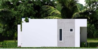 10x8 Small House Design 33x27 Feet 2 Bedrooms PDF Plan Elevation Right