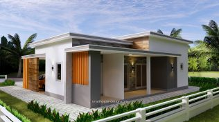 12x11 Small House Plan 3 Bedrooms 40x36 Feet Flat Roof back