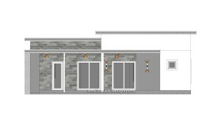 12x11 Small House Plan 3 Bedrooms 40x36 Feet Flat Roof 2 Back