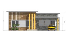 12x11 Small House Plan 3 Bedrooms 40x36 Feet Flat Roof 2 front
