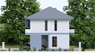 Small House Plan 11.8x7.5 meters 3 Beds 39x25 Feet Full PDF Plan Elevation Right