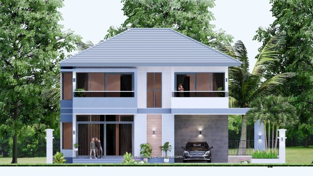 Small House Plan 11.8x7.5 meters 3 Beds 39x25 Feet Full PDF Plan Elevation front