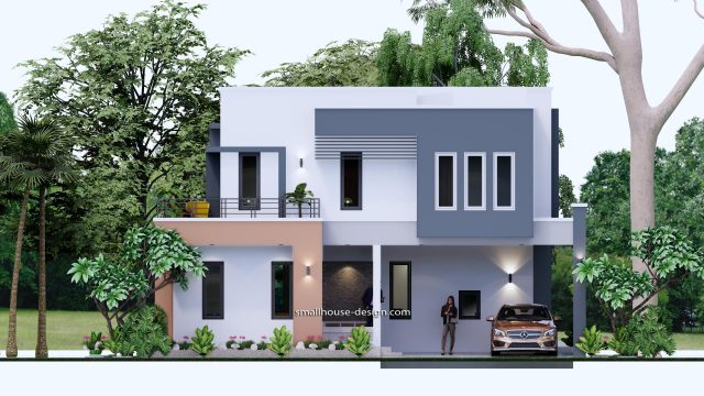 Small House Plan 11x15 M 36x49 Feet 5 Beds Full Plan Front