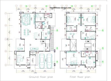 Small House Plan 11x15 M 36x49 Feet 5 Beds Full Plan Layout floor plan