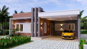 Small House Plan 12x11 M 3 Bedrooms PDF Plan 3d 1