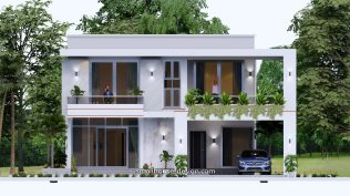 Small House Plan 12x11 m 40x36 Feet 4 Beds Pdf Full Plan elevation front