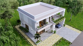 Small House Plan 12x11 m 40x36 Feet 4 Beds Pdf Full Plan front top view 1