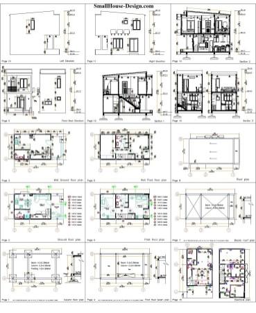Small House Plan 4x7 M 13x23 Feet 2 Beds PDF Plan all layout plan